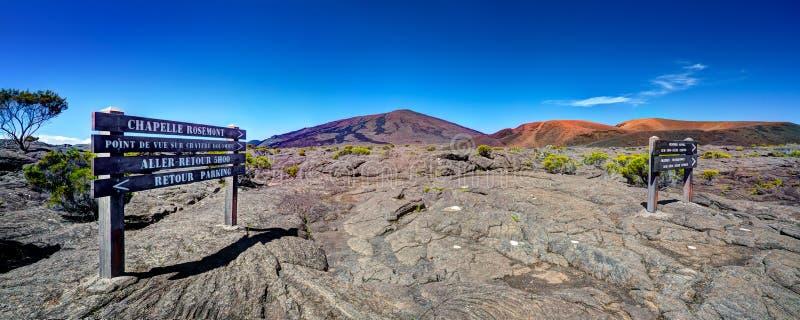 vulkan för de fournaise laringbult arkivfoton