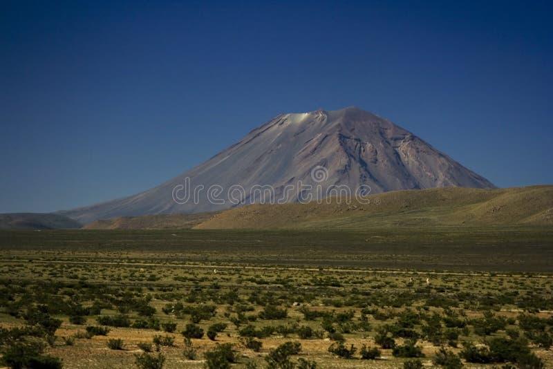Vulkan för El Misti royaltyfri foto