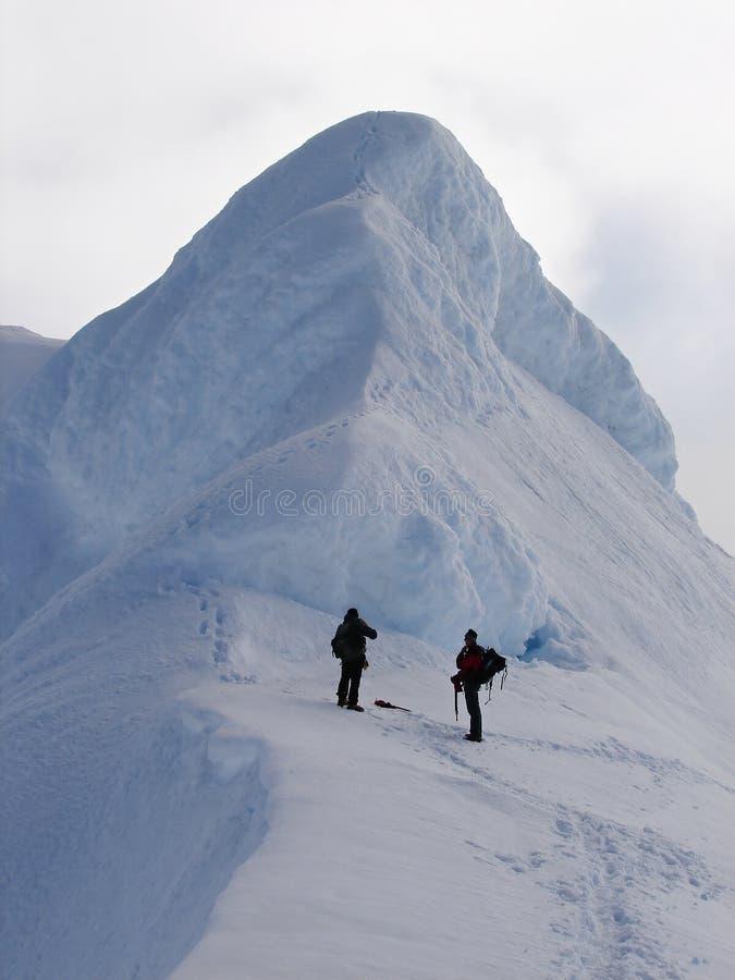 vulkan för kant två för beerenbergklättrarekrater royaltyfri foto