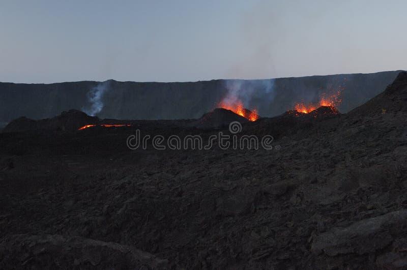 vulkan för utbrott s royaltyfri foto