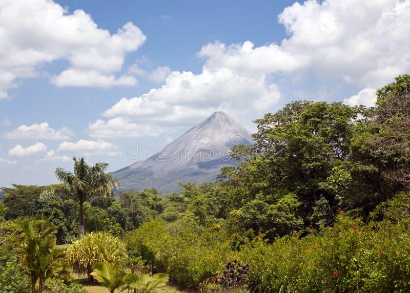 Vulkan im Paradies stockbild