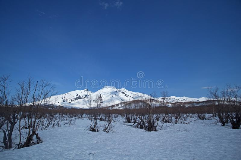 Vulkan Kamchatka halvö royaltyfria foton