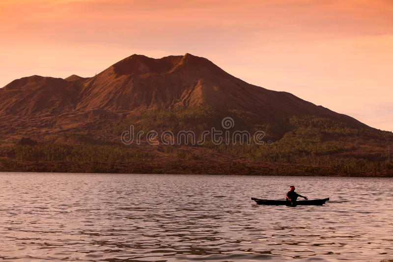 VULKAN-LANDSCHAFT M.Ü.S BATUR ASIEN-INDONESIEN BALI lizenzfreie stockfotografie