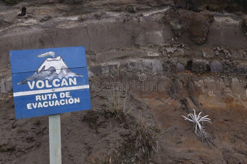 Vulkan am Nationalpark Los Nevados in Kolumbien stockfotos