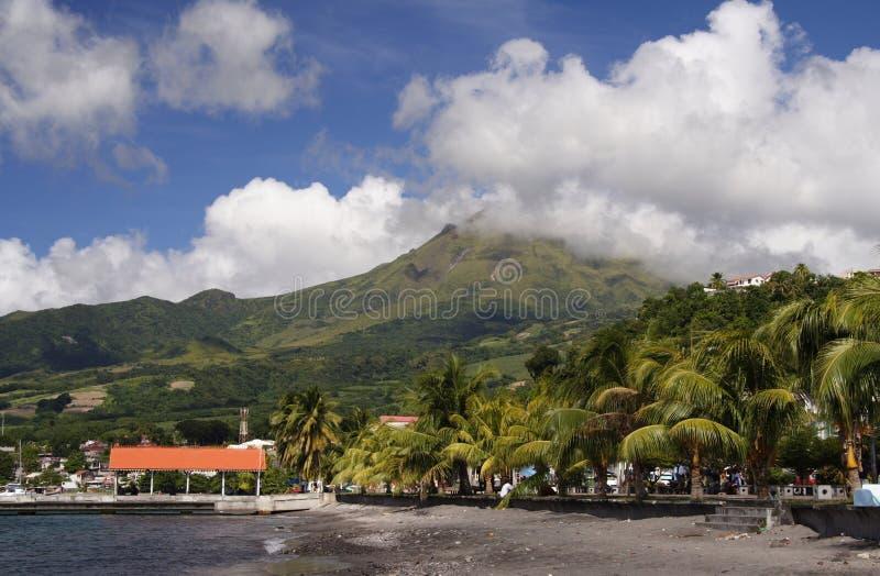 Vulkan-Strand lizenzfreies stockbild