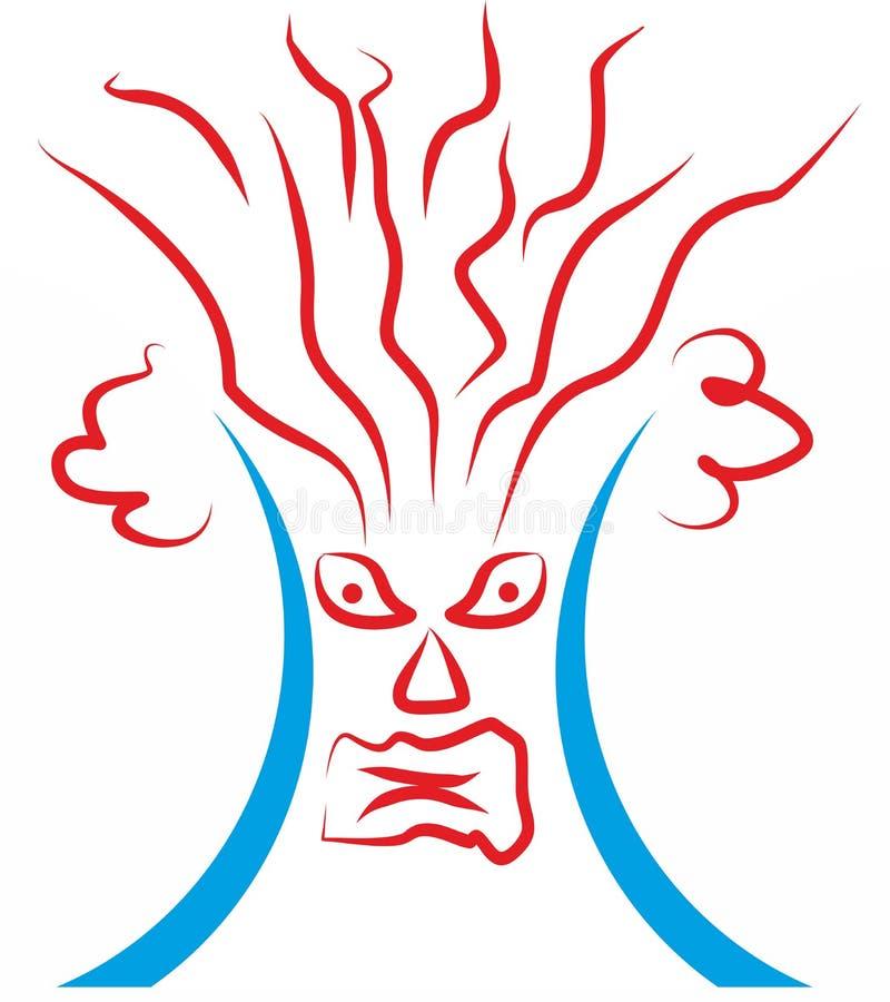 Vulkan von Hand gezeichnetes clipart stock abbildung