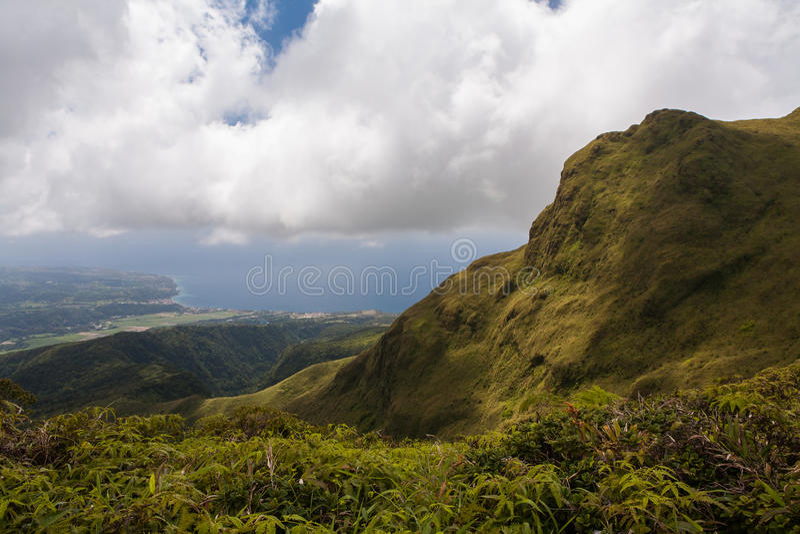 Vulkan von Montagne Pelee, Martinique lizenzfreie stockfotos