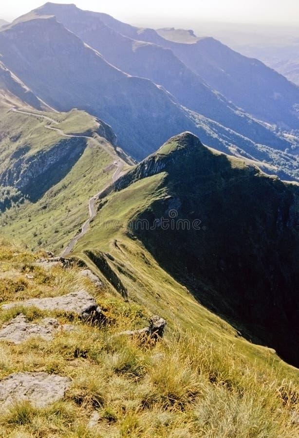 Vulkanen Auvergne royalty-vrije stock afbeelding