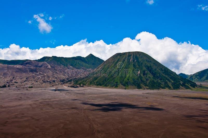 Vulkanen van het Nationale Park van Bromo stock afbeeldingen
