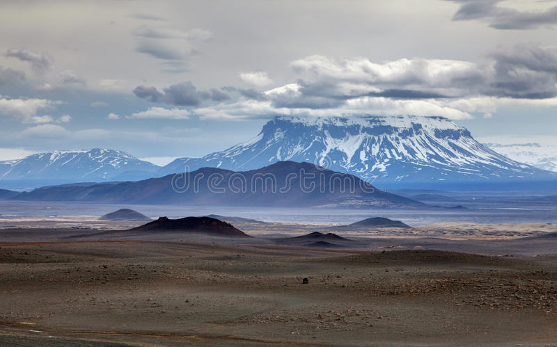 Vulkanherdubreid i Island royaltyfri bild