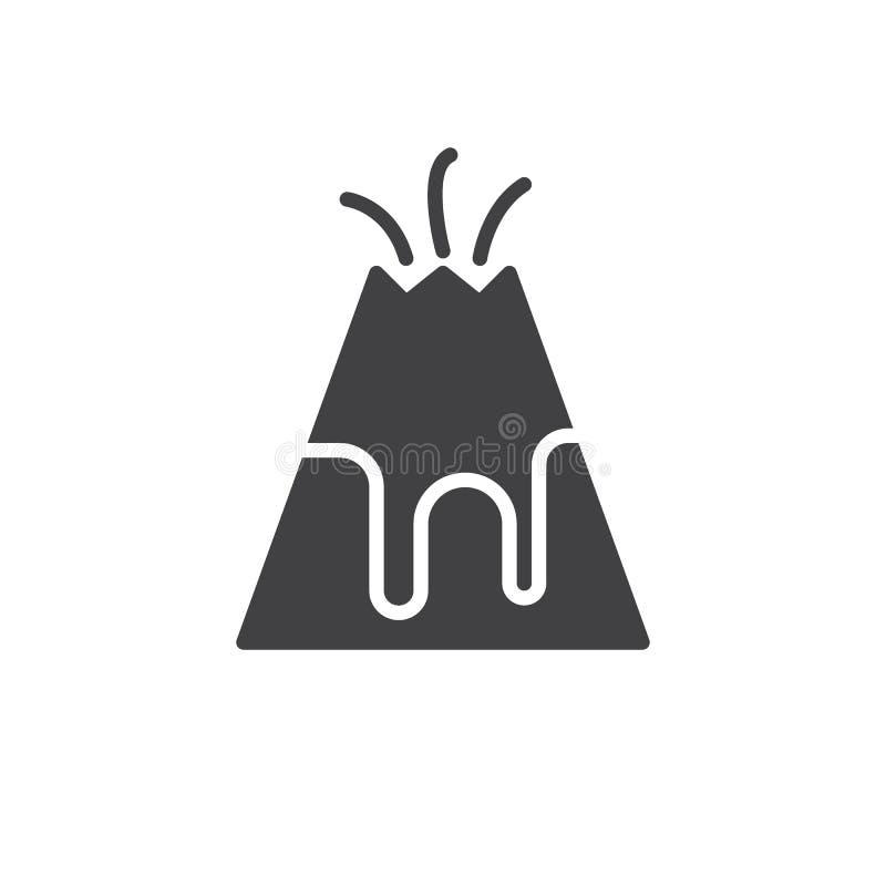 Vulkanikonenvektor stock abbildung