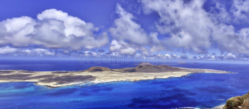 Vulkaninsel-La Graciosa - Lanzarote, Kanarische Inseln lizenzfreies stockbild