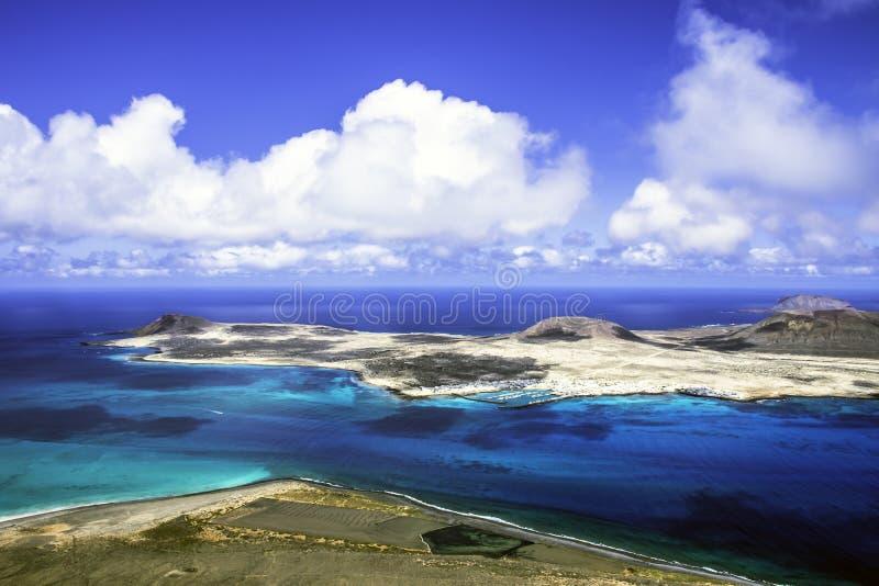 Vulkaninsel-La Graciosa - Lanzarote, Kanarische Inseln stockbild
