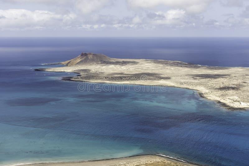 Vulkaninsel-La Graciosa - Lanzarote, Kanarische Inseln stockfoto