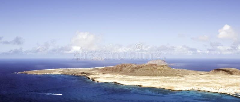 Vulkaninsel-La Graciosa - Lanzarote, Kanarische Inseln stockfotografie