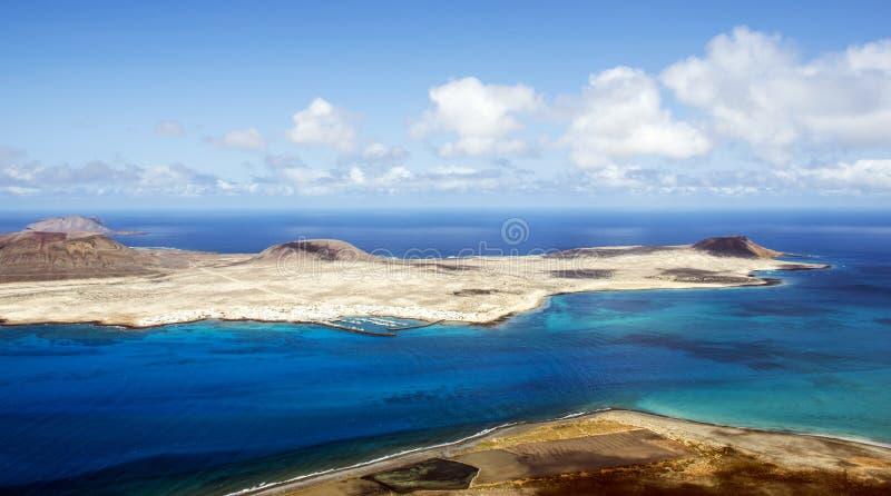 Vulkaninsel-La Graciosa - Lanzarote, Kanarische Inseln stockbilder