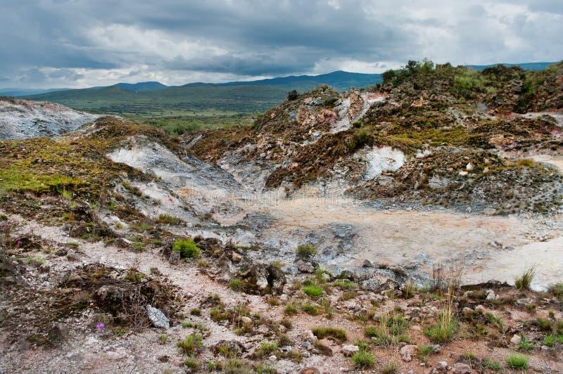 Vulkanisch Landschap kenia stock afbeeldingen