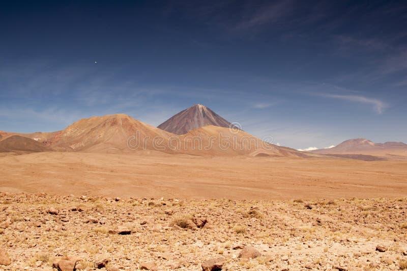 Vulkanisch landschap op Atacama-woestijn, Chili stock foto's