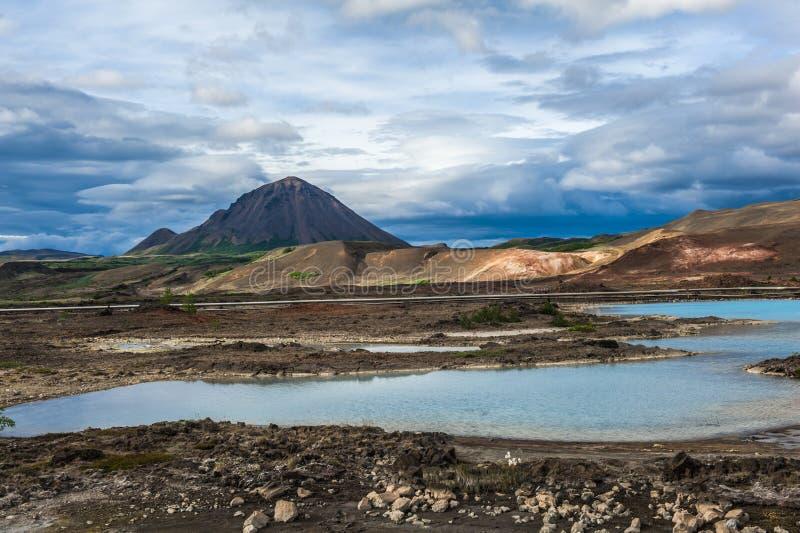 Vulkanisch landschap van IJsland royalty-vrije stock afbeeldingen