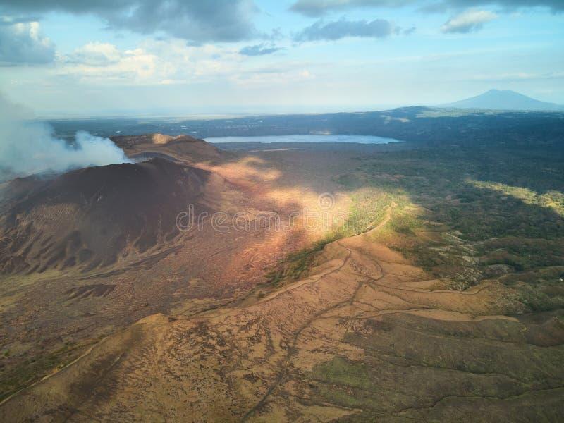 Vulkanisch landschap van Nicaragua royalty-vrije stock foto's
