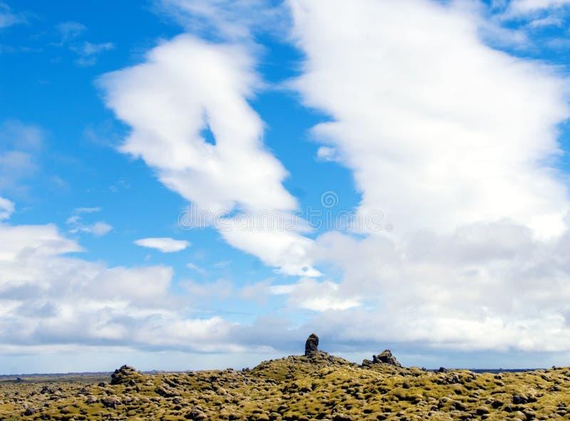 Vulkanisch rotsenlandschap stock foto's