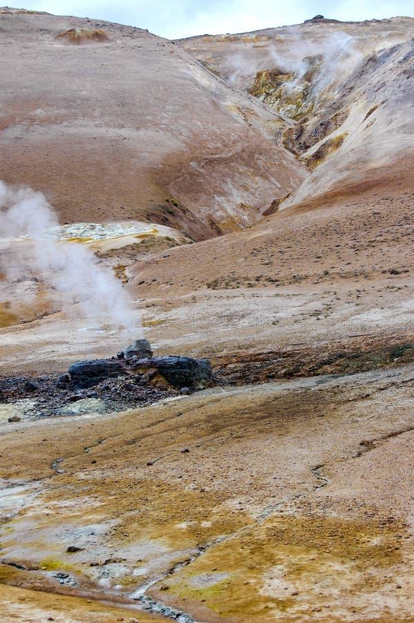 Vulkanische Aarde stock afbeeldingen