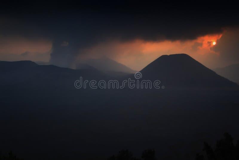 Vulkanische activiteit stock afbeelding