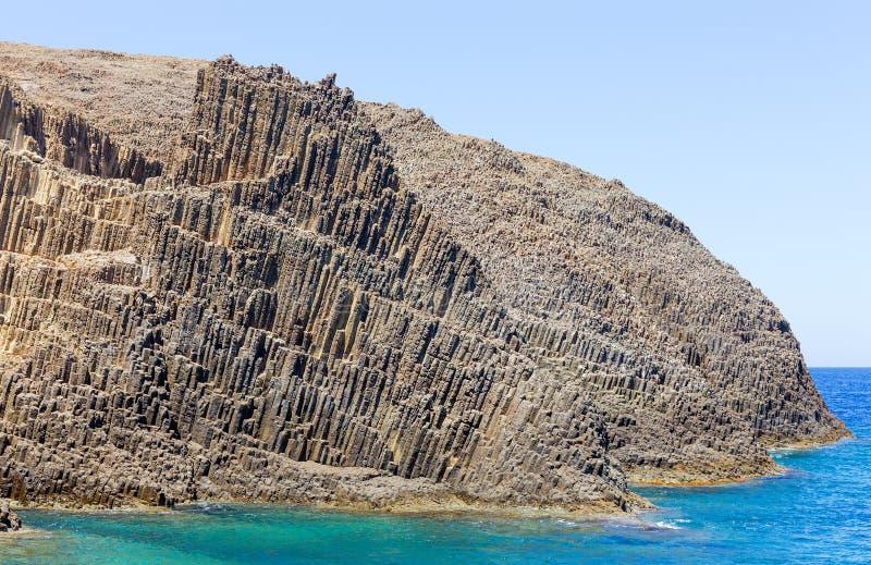 Vulkanische Bildungen auf Glaronissia-kleinen Inseln, Milos Insel, Griechenland stockfoto