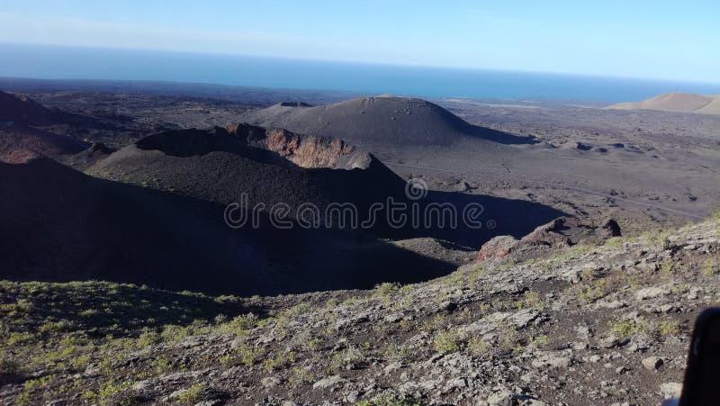 vulkanische de kanaries van het het landschapspanorama van Tenerife stock fotografie