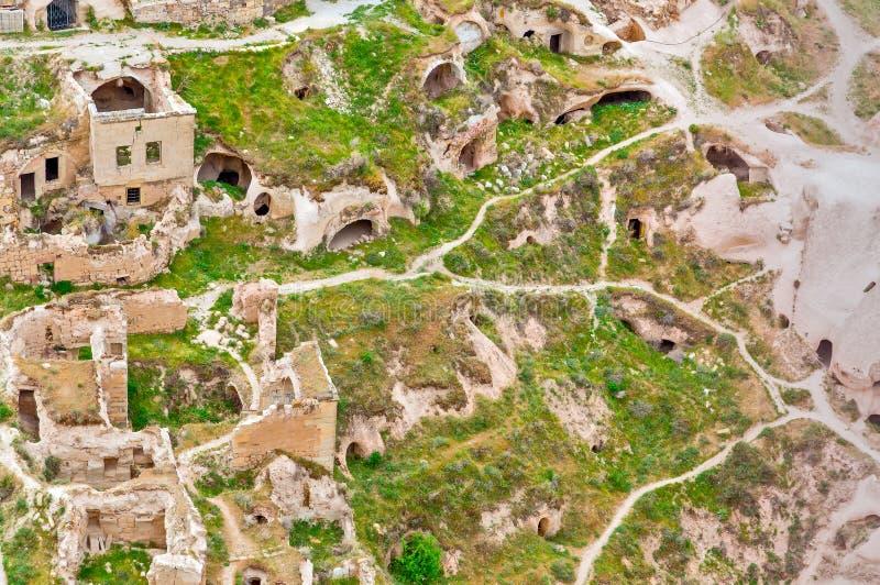 Vulkanische Felsen Cappadocia, Anatolien, die Türkei Goreme nationales PA stockfotos