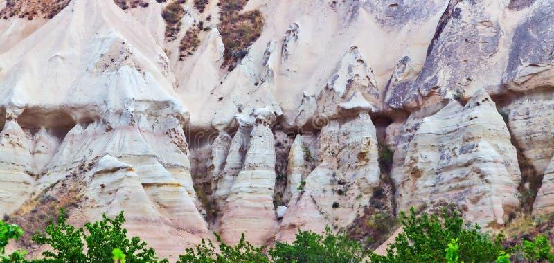 Vulkanische Felsen in der Türkei, textur Hintergrund-Kalksteinsandstein stockbild