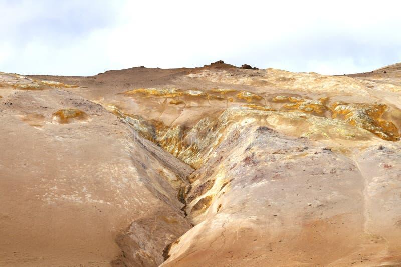 Vulkanische grond in IJsland stock afbeelding
