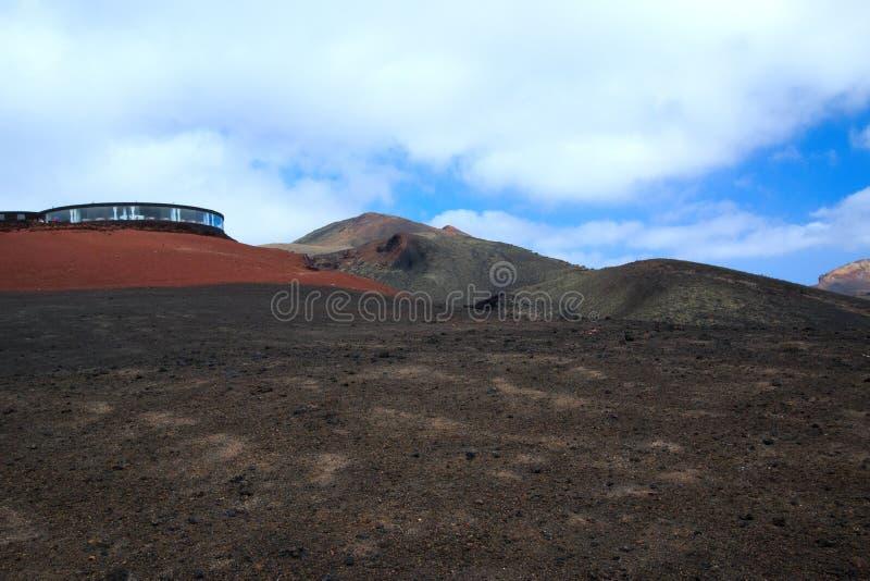 Vulkanische Landschaft, Lanzarote, Spanien lizenzfreie stockfotos