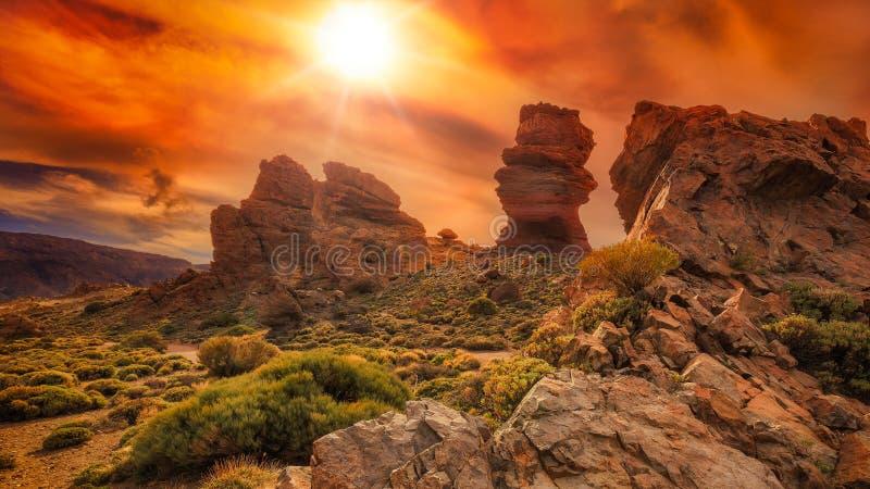 Vulkanische rots royalty-vrije stock afbeeldingen