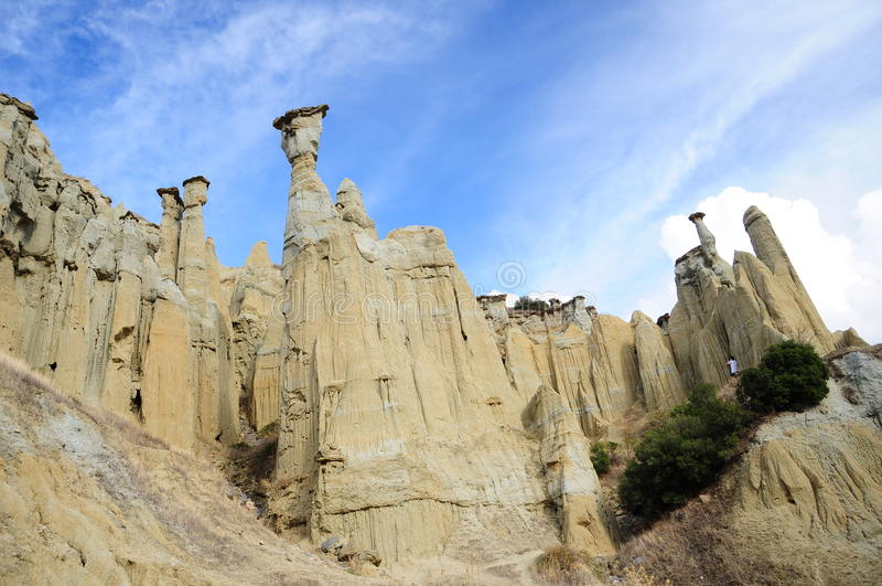Vulkanische rotsen stock foto's