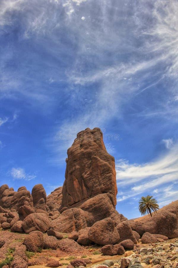 Vulkanische rotsvormingen van de Tislit-Kloven in Marokko royalty-vrije stock fotografie