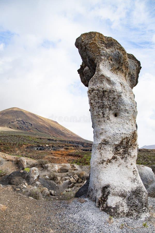 Vulkanische standbeelden op Lanzarote, royalty-vrije stock afbeelding