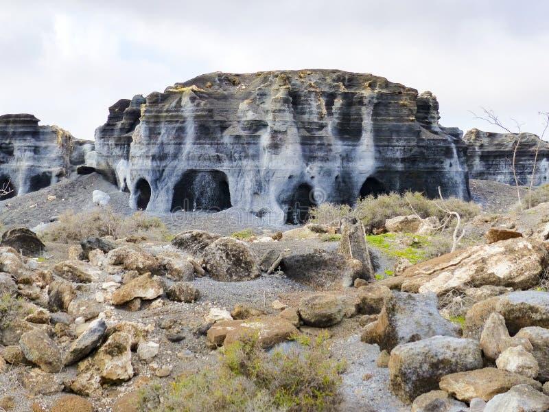 Vulkanische standbeelden op Lanzarote, royalty-vrije stock foto