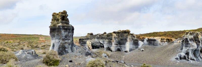 Vulkanische standbeelden op Lanzarote, royalty-vrije stock afbeeldingen