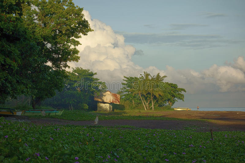 Vulkanischer Strand stockbild