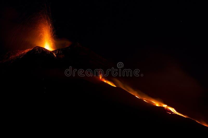 vulkanisk aktivitet arkivbild