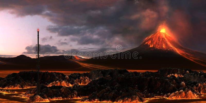 vulkanisk liggande royaltyfri fotografi