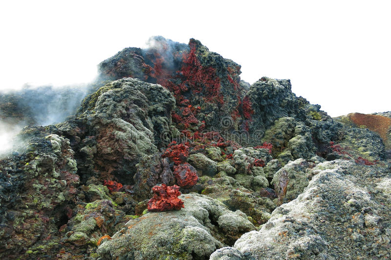 vulkanisk områdeskrafla arkivfoton