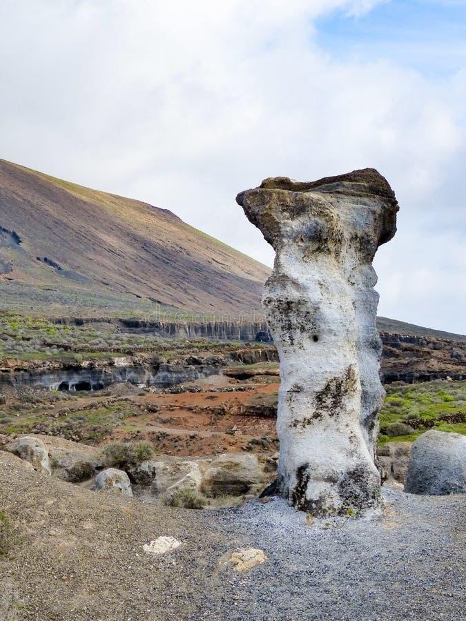 Vulkaniska statyer på Lanzarote, royaltyfri fotografi