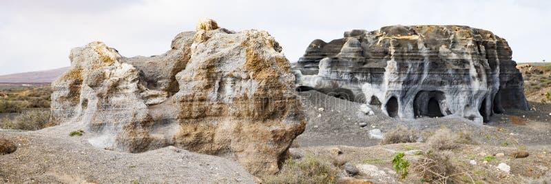 Vulkaniska statyer på Lanzarote, royaltyfria bilder