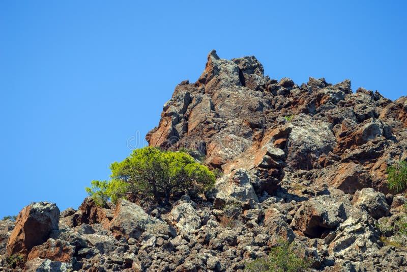 vulkaniskt berg royaltyfri fotografi