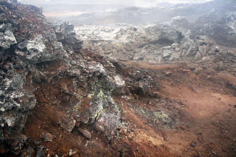 vulkaniskt område royaltyfri foto