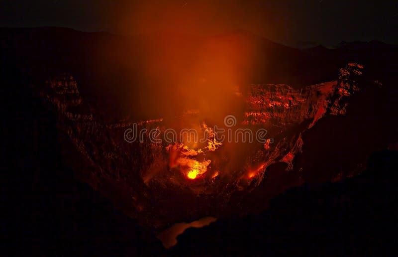Vulkaniskt utbrott i Kamchatka, pyroclastic flöde arkivbild