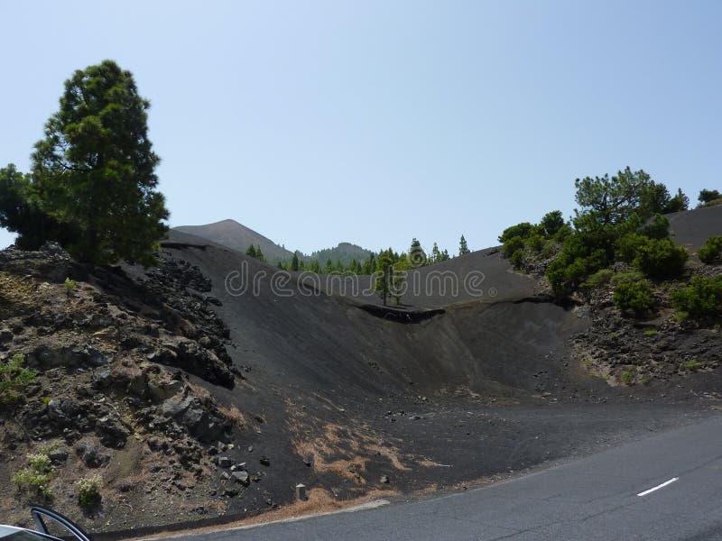Vulkanland in der Straße stockfotos