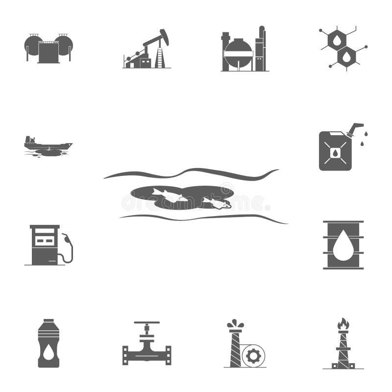 Vulklei van het pictogram van de olievlekmorserij Gedetailleerde reeks Oliepictogrammen Grafisch het ontwerpteken van de premiekw vector illustratie